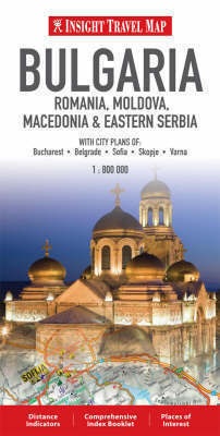 BUŁGARIA RUMUNIA, MOŁDAWIA, MACEDONIA, WSCHODNIA SERBIA mapa 1:800 000 Insight Travel Map