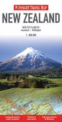 NOWA ZELANDIA mapa 1:800 000 Insight Travel Map