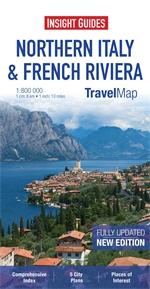 WŁOCHY PÓŁNOCNE RIWIERA FRANCUSKA mapa 1:800 000 INSIGHT TRAVEL MAP