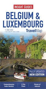 BELGIA LUKSEMBURG mapa 1:300 000 INSIGHT TRAVEL MAP 2013