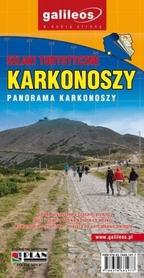 SZLAKI TURYSTYCZNE KARKONOSZY, PANORAMA KARKONOSZY mapa turystyczna PLAN 2015