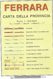 FERRARA MAPA PROWINCJI 1:150 000 LAC WŁOCHY