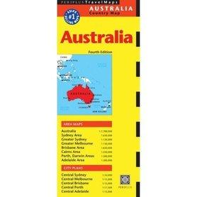 AUSTRALIA mapa PERIPLUS BRISBANE MELBOURNE PERTH