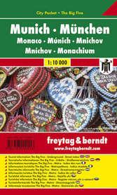 MONACHIUM plan miasta laminowany 1:10 000 FREYTAG & BERNDT