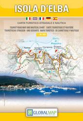 Wyspa ELBA mapa turystyczna 1:30 000 PORTOFERRAIO plan miasta LAC