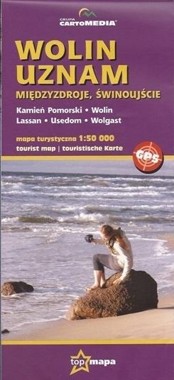 WOLIN UZNAM - MIĘDZYZDROJE ŚWINOUJŚCIE mapa turystyczna 1:50 000 Cartomedia