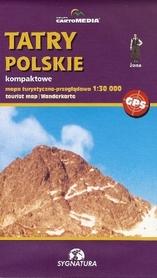 TATRY POLSKIE kompaktowe mapa turystyczna 1:30 000 SYGNATURA