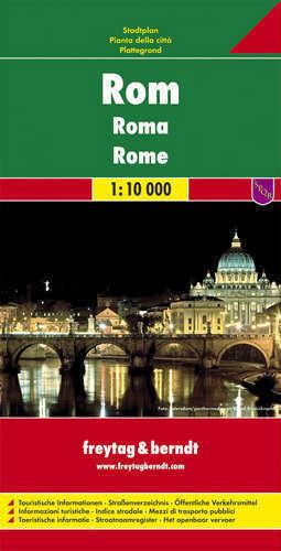 RZYM ROME plan miasta 1:10 000 FREYTAG & BERNDT