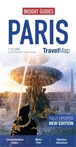 PARYŻ PARIS plan miasta 1:15 000 INSIGHT TRAVEL