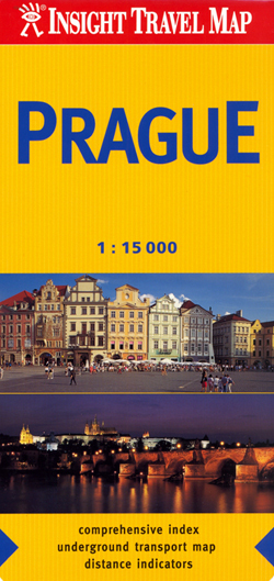 PRAGA PRAGUE plan miasta 1:15 000 INSIGHT TRAVEL