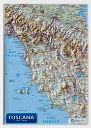 TOSKANIA mapa plastyczna 1:1 100 000 LAC Włochy