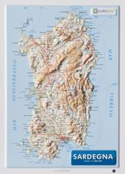 SARDYNIA mapa plastyczna 1:1 000 000 LAC WŁOCHY