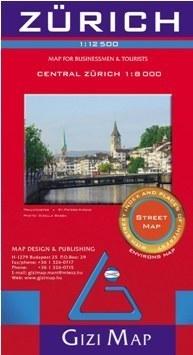 ZURYCH plan miasta 1:12 500 GIZIMAP