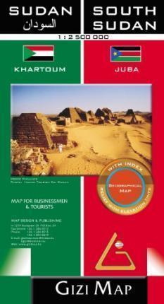 SUDAN I SUDAN POŁUDNIOWY mapa geograficzna 1:2 500 000 GIZIMAP