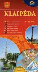 KŁAJPEDA Klaipeda plan miasta 1:15 000 BRIEDIS