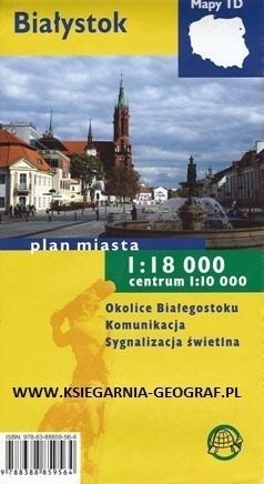 BIAŁYSTOK plan miasta laminowany 1:18 000 TD