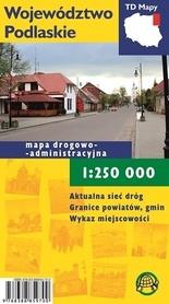 WOJEWÓDZTWO PODLASKIE mapa turystyczna 1:250 000 wersja foliowana TD