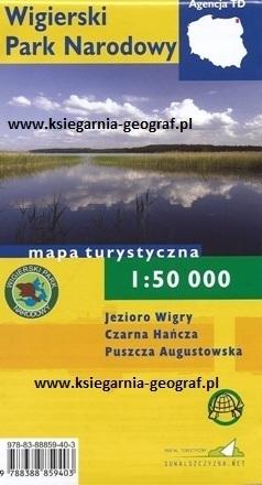 WIGIERSKI PARK NARODOWY mapa turystyczna 1:50 000 wersja foliowana TD