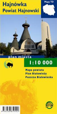 HAJNÓWKA POWIAT HAJNOWSKI plan miasta i mapa turystyczna laminowana 1:10 000 TD