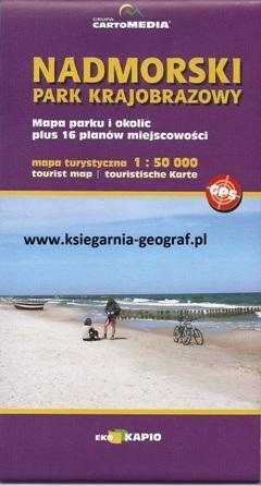 KASZUBY PÓŁNOCNE NADMORSKI PARK KRAJOBRAZOWY mapa turystyczna 1:50 000 SYGNATURA/CARTOMEDIA