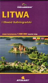 LITWA i OBWÓD KALININGRADZKI mapa turystyczna 1:500 000 CARTOMEDIA 2014