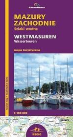 Mazury Zachodnie szlaki wodne mapa 1:100 000 CartoMedia