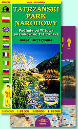 TATRA NATIONAL PARK mapa turystyczna / tourist map 1:25 000 SYGNATURA / CARTOMEDIA
