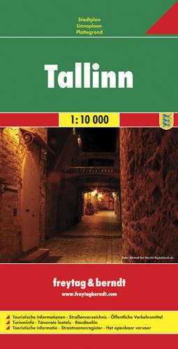TALIN TALLINN plan miasta 1:10 000 FRETAG & BERNDT