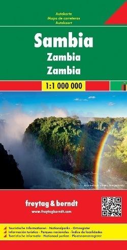 ZAMBIA SAMBIA mapa samochodowa 1:1 000 000 FREYTAG & BERNDT