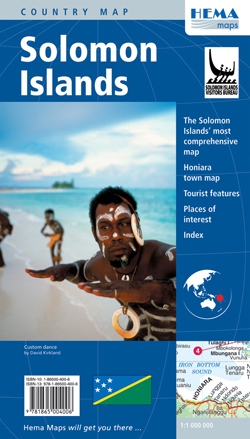 WYSPY SALOMONA Solomon Islands mapa HEMA