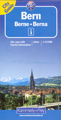 BERNO BERN plan miasta 1:12 500 Kummerly & Frey
