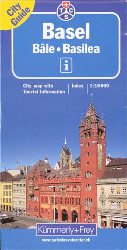 BAZYLEA BESEL plan miasta 1:16 000 Kummerly & Frey