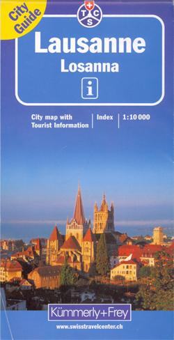 LAUSANNE LOZANNA plan miasta 1:10 000 Kummerly & Frey
