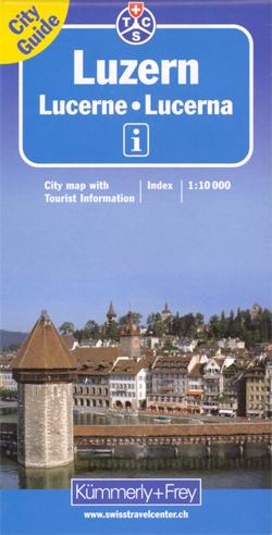 LUCERNA LUCERNE plan miasta 1:10 000 Kummerly & Frey