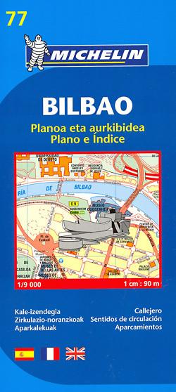 BILBAO plan miasta 1:9 000 MICHELIN