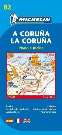 82 LA CORUNA HISZPANIA plan miasta 1:7 000 MICHELIN