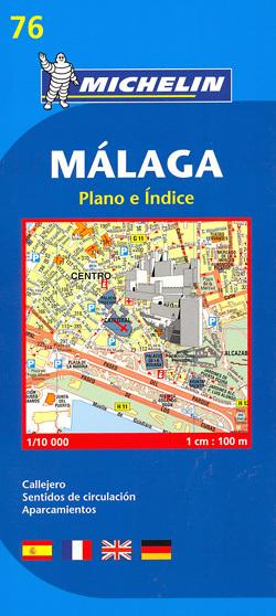 MALAGA plan miasta 1:10 000 MICHELIN