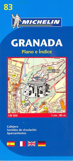 GRANADA plan miasta 1:8 500 MICHELIN