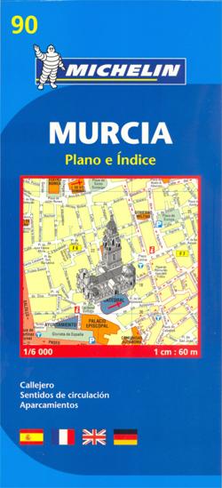 90 MURCIA HISZPANIA plan miasta 1:6 000 MICHELIN