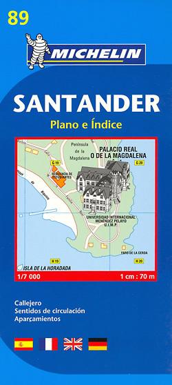 SANTANDER plan miasta 1:7 000 MICHELIN