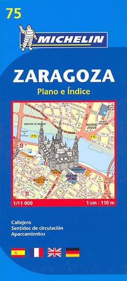 SARAGOSSA ZARAGOZA plan miasta 1:11 000 MICHELIN
