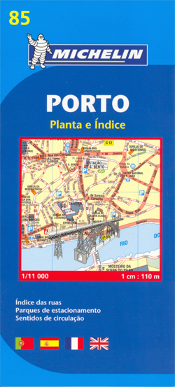 PORTO plan miasta 1:11 000 MICHELIN 2015