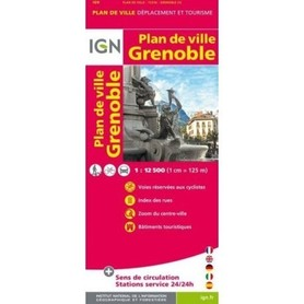 GRENOBLE plan miasta 1:12 500 IGN