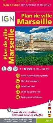 MARSEILLE MARSYLIA plan miasta 1:13 000 IGN