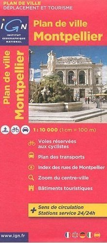 MONTPELLIER  plan miasta 1:10 000 IGN