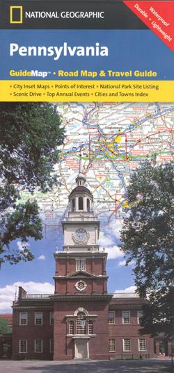PENSYLWANIA Pennsylvania mapa samochodowa 1:1 000 000 National Geographic - USA