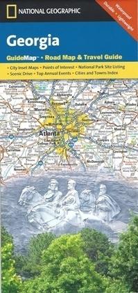 GEORGIA mapa samochodowa 1:1 300 000 National Geographic - USA