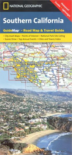 KALIFORNIA POŁUDNIOWA California Southern mapa samochodowa 1:2 000 000 National Geographic - USA