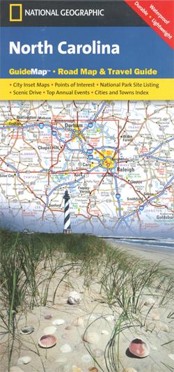 KAROLINA PÓŁNOCNA North Carolina mapa samochodowa 1:1 325 000 National Geographic - USA