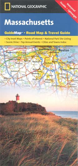 Massachusetts mapa samochodowa National Geographic - USA